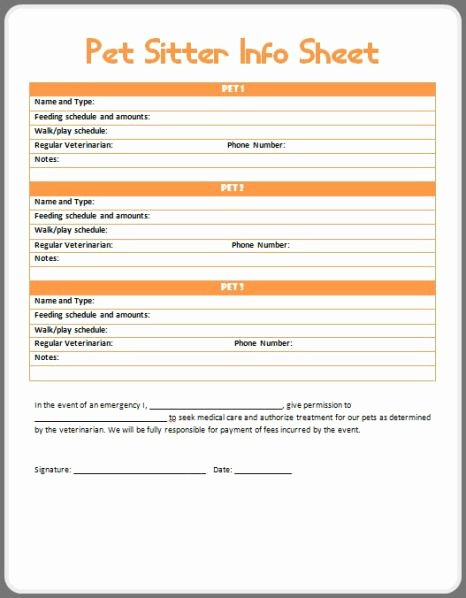 Dog Boarding Report Card Template New Sitter Info Printable Got Things to Do