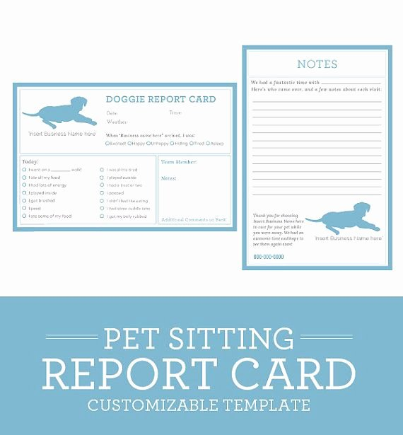Dog Daycare Report Card Beautiful Simple Clean Classic Dog Pet Sitting Report Card
