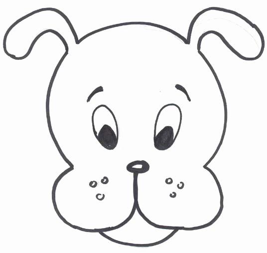 Dog Face Template Beautiful Hd Dog Mask Template 536×507 Pixels Cny