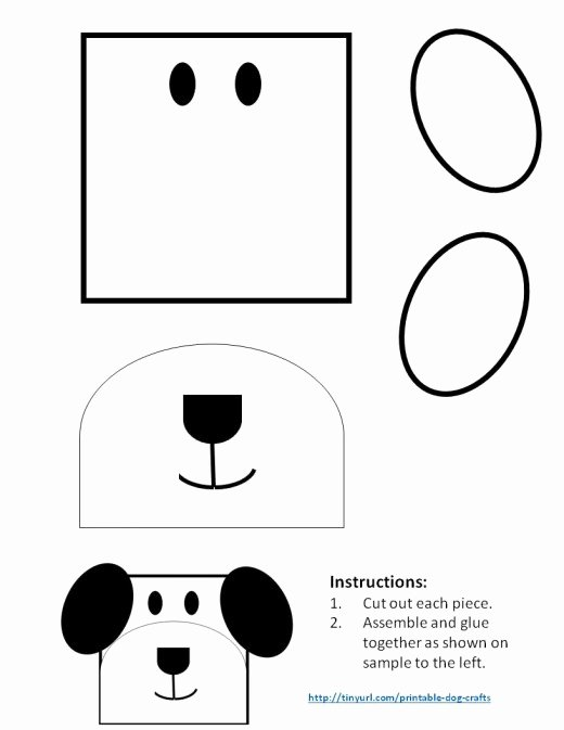 Dog Face Template Best Of Printable Dog Patterns with Simple Shapes for Kids Crafts