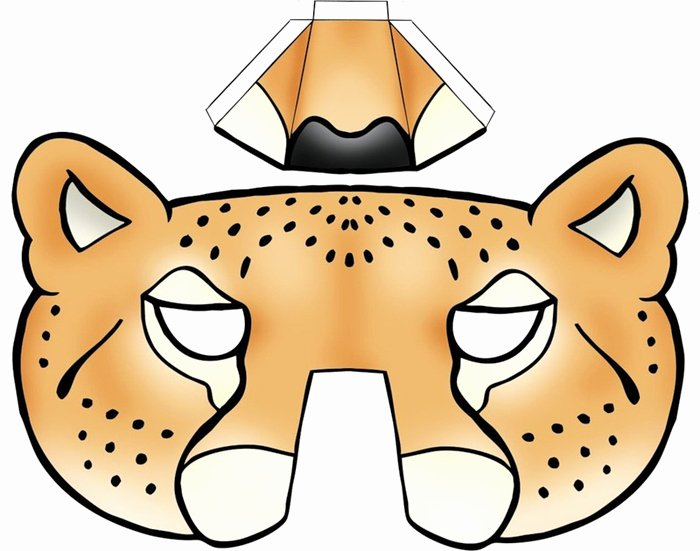Dog Face Template Fresh 64 Free Kids Face Masks Templates for Halloween to Print