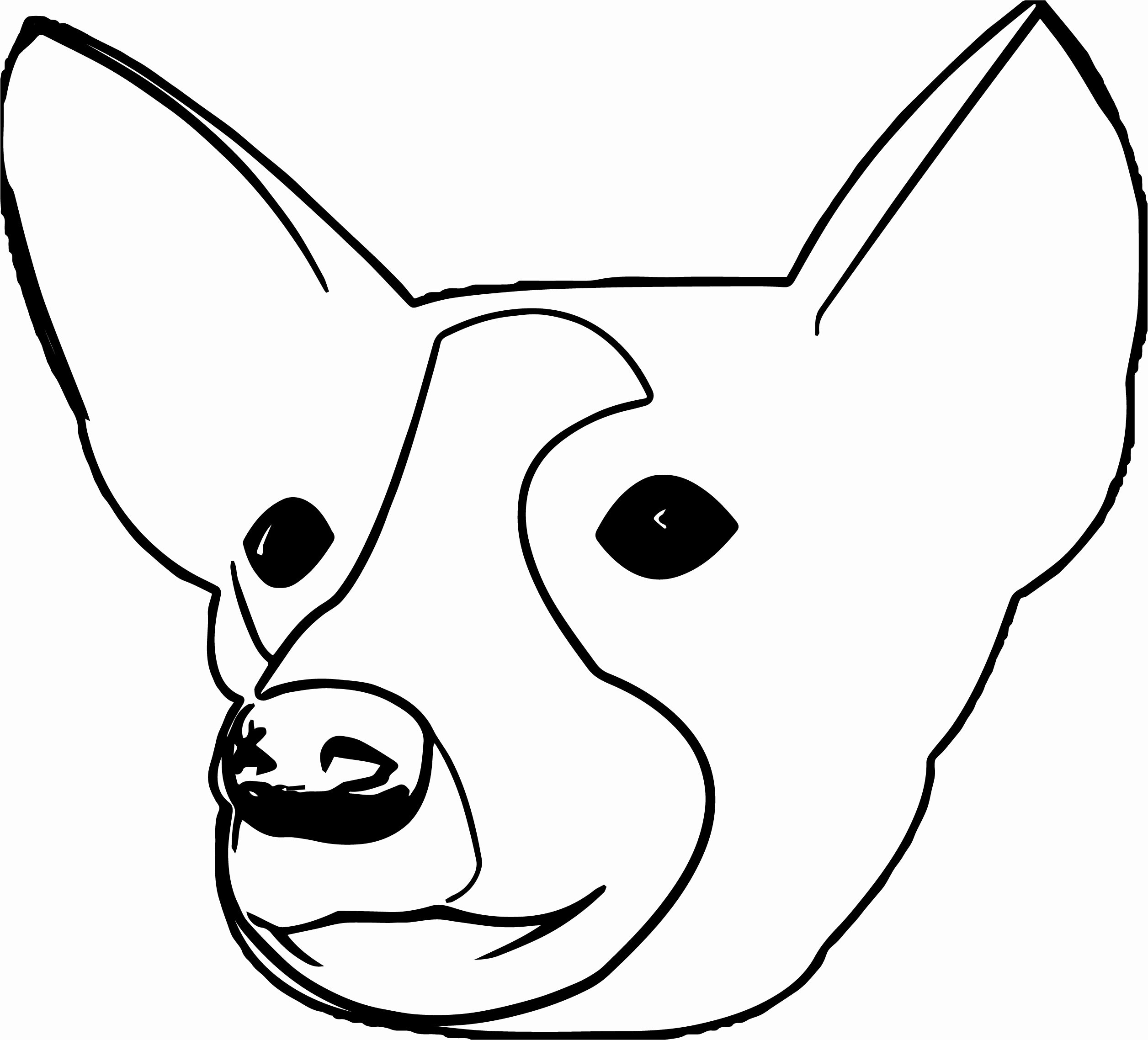 Dog Face Template Fresh Dog Face Page Coloring Pages