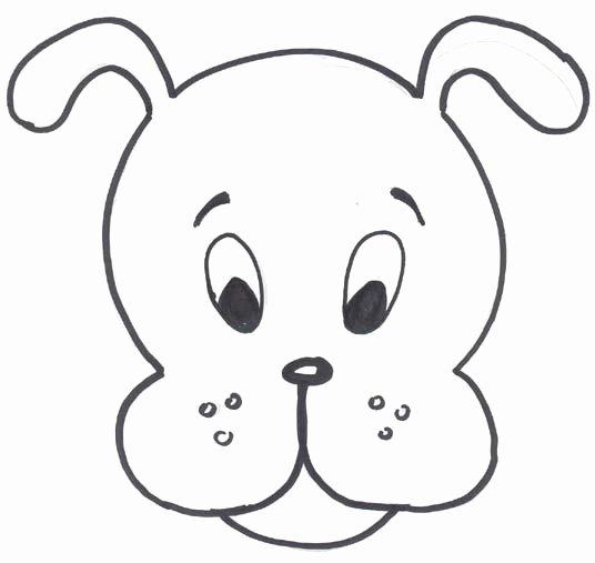 Dog Face Template Lovely Cartoon Mask Templates Clipart Best