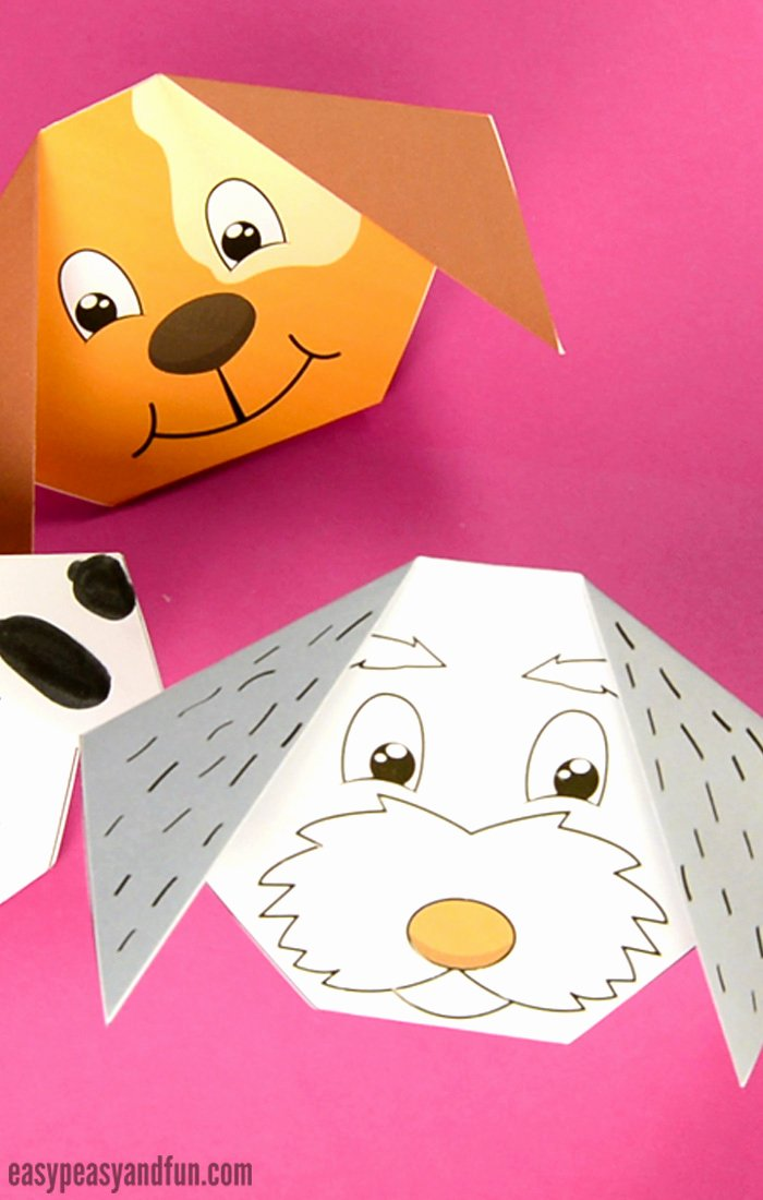 Dog Face Template Luxury How to Make An origami Dog Easy Peasy and Fun