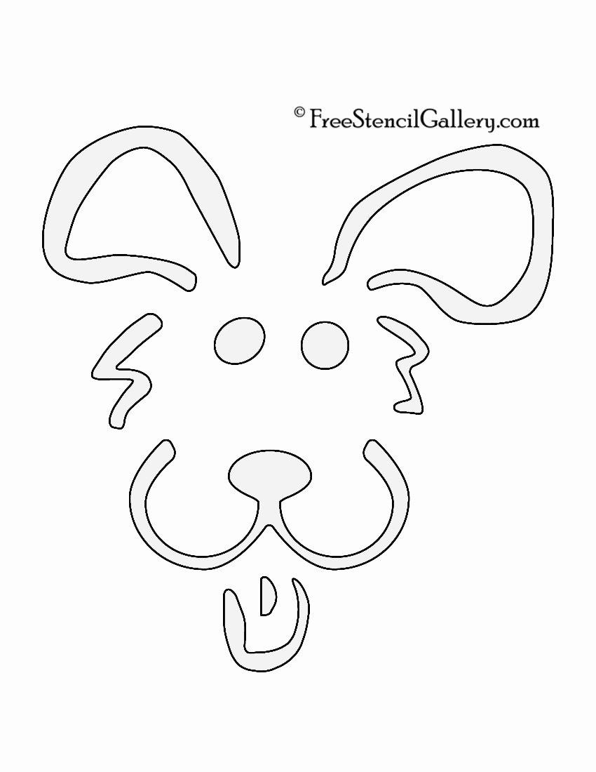 Dog Face Template New Dog Stencil 02