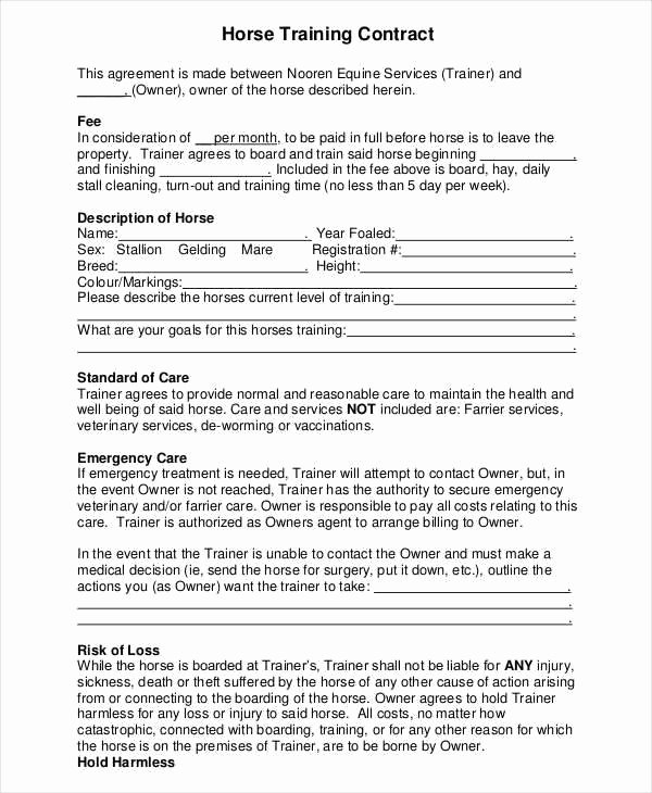 Dog Training Contract Template Inspirational 9 Training Contract Samples & Templates In Pdf