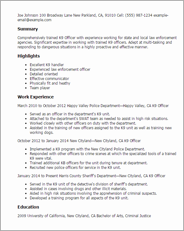 Dog Training Contract Template Lovely Government & Military Resume Templates to Impress Any