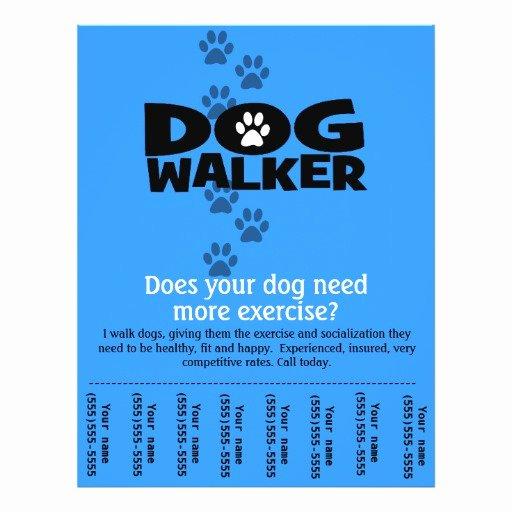 Dog Walking Flyer Ideas Awesome Dog Walker Promotional Tear Sheet Flyer Template B