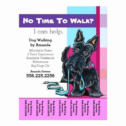 Dog Walking Flyer Ideas Beautiful Dog Walker Scottie Plaid Personalized Tear Sheet Flyer