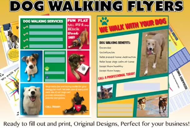 Dog Walking Flyer Ideas Best Of Send You 4 Customizable Dog Walking Flyers by Paramecium Nai