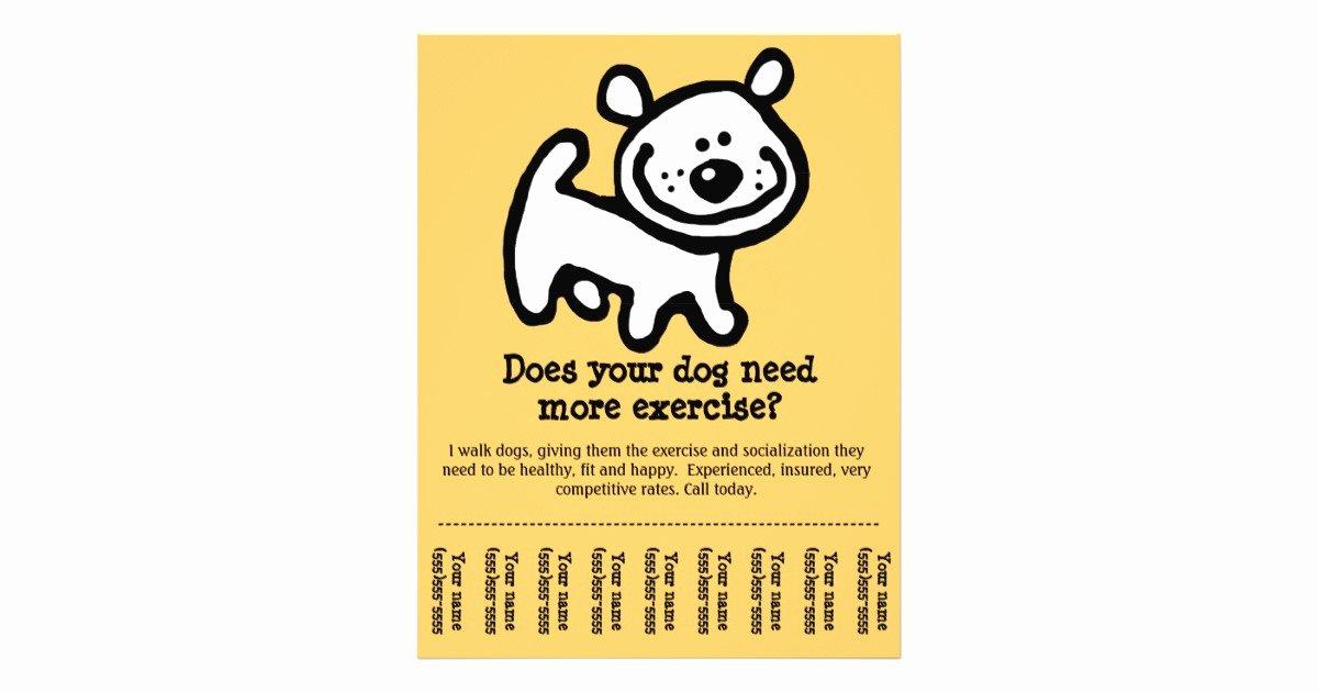 Dog Walking Flyer Ideas Fresh Cute Dog Walking Promotion Tear Sheet Flyer Y Flyer