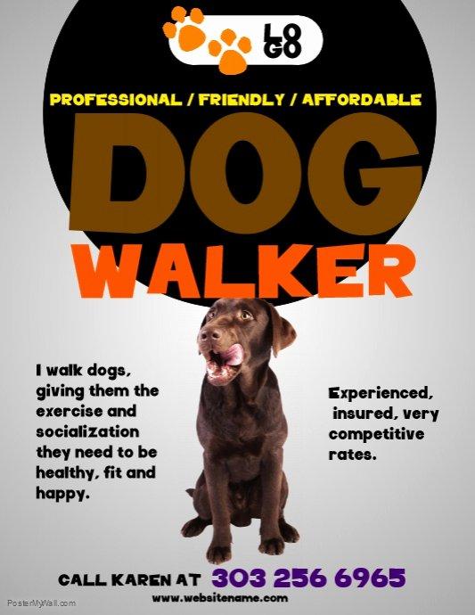 Dog Walking Flyer Ideas Inspirational Dog Walkers Flyer Template