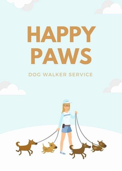 Dog Walking Flyer Ideas Lovely Dog Walking Flyer Template