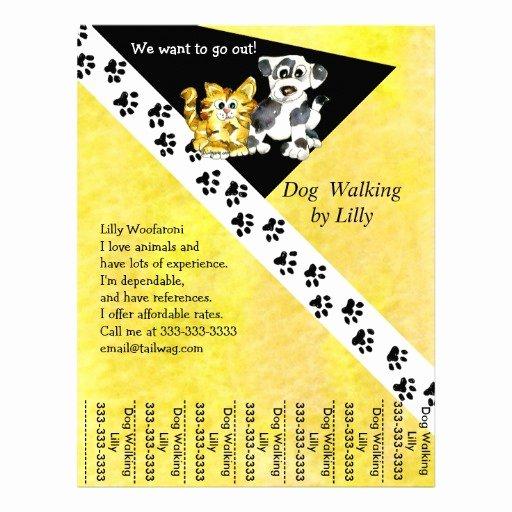 Dog Walking Flyer Ideas Luxury Dog Walker Pet Walking Tear Sheet Custom Flyer
