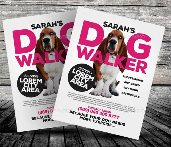 Dog Walking Flyer Template Beautiful 15 Dog Walking Flyer Templates Psd Vector Eps Ai