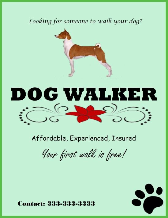 Dog Walking Flyer Template Beautiful 25 Dog Walking Flyers for Small Dog Sitting Businesses