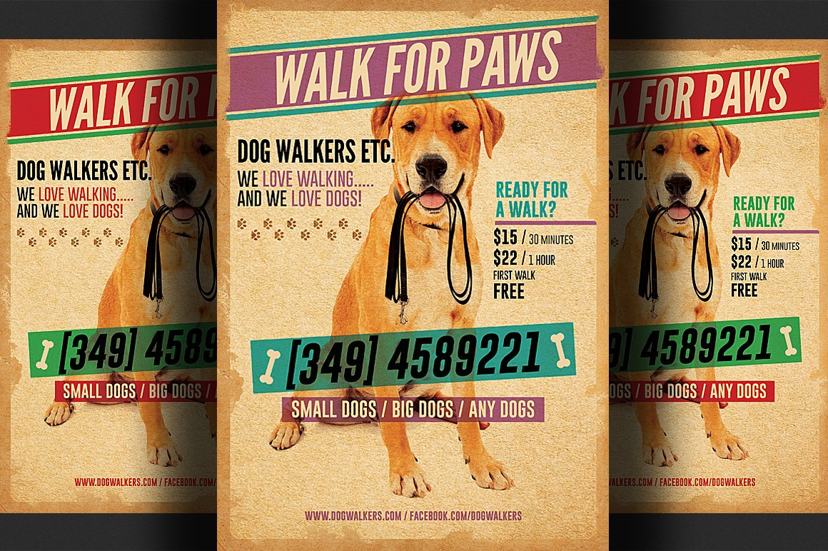 Dog Walking Flyer Template Best Of Dog Walkers Flyer Template 2 Flyer Templates On Creative