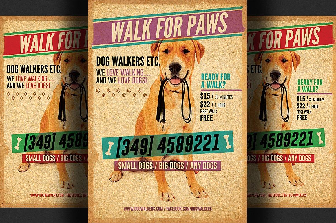 Dog Walking Flyer Template Best Of Dog Walkers Flyer Template 2 Flyer Templates On Creative