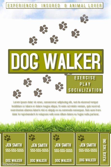 Dog Walking Flyer Template Elegant Dog Walker Template