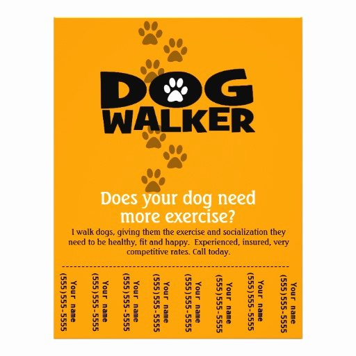 Dog Walking Flyer Template Elegant Dog Walking Business Tear Sheet Flyer Template