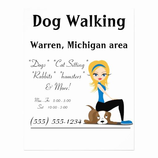 Dog Walking Flyer Template Inspirational Dog Walker Pet Sitter Business Flyers