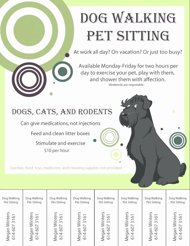 Dog Walking Flyer Template Inspirational Free Dog Walking Flyer Template Graficasxerga