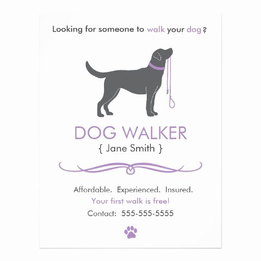 Dog Walking Flyer Template Lovely Dog Walker Walking Business Flyer Template
