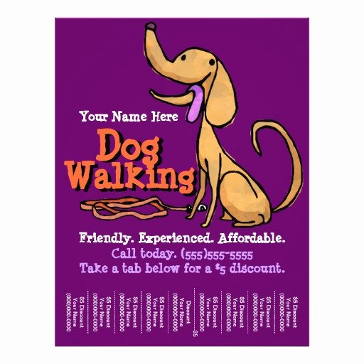 Dog Walking Flyer Template New Dog Walking Advertising Promotional Flyer