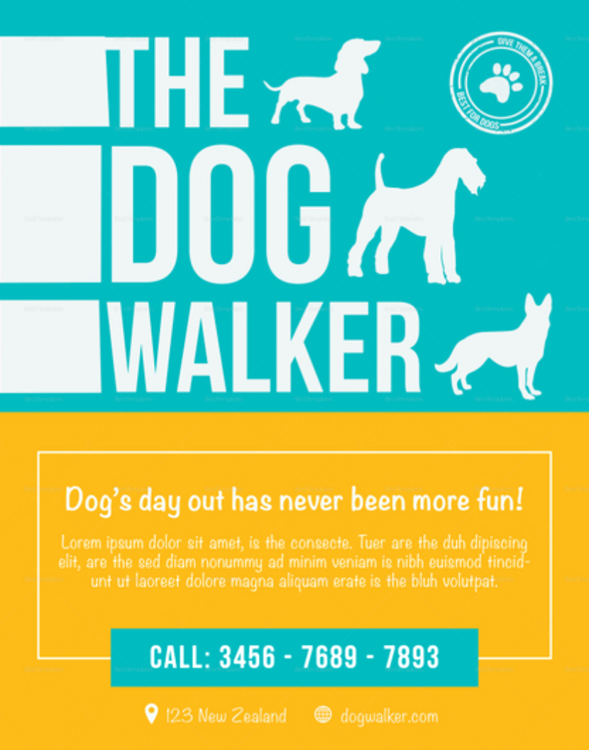 Dog Walking Flyer Template New Effective Dog Walking Flyer Design and Content Tips