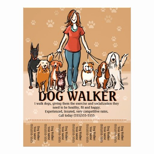 Dog Walking Flyer Template Unique Dog Walker Dog Walking Advertising Template Flyer