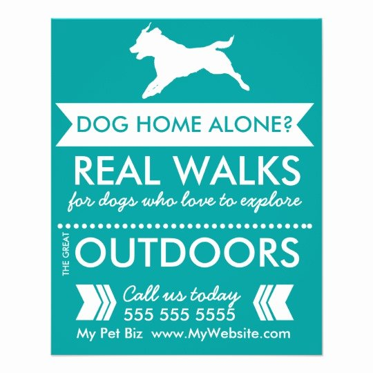 Dog Walking Flyer Template Unique Dog Walker Flyer Personalizable