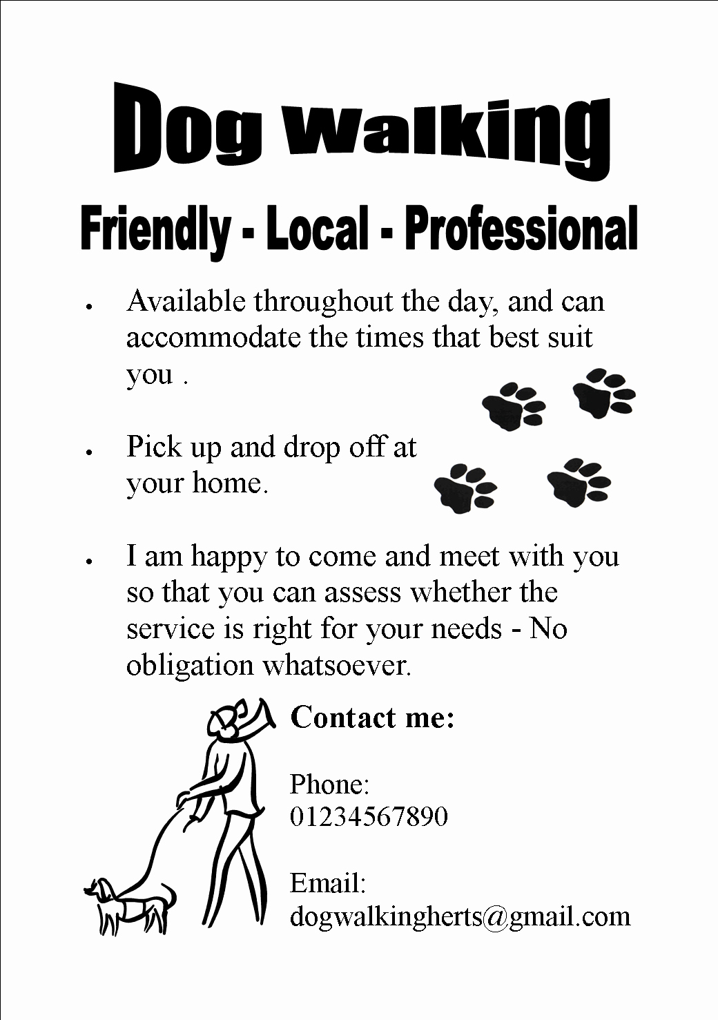 Dog Walking Template Inspirational My Experiment with Dog Walking and the Vital Lessons Learned