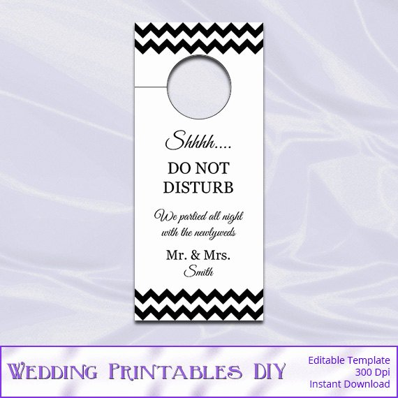 Door Hanger Template for Word Best Of Diy Do Not Disturb Door Hanger Template Templates