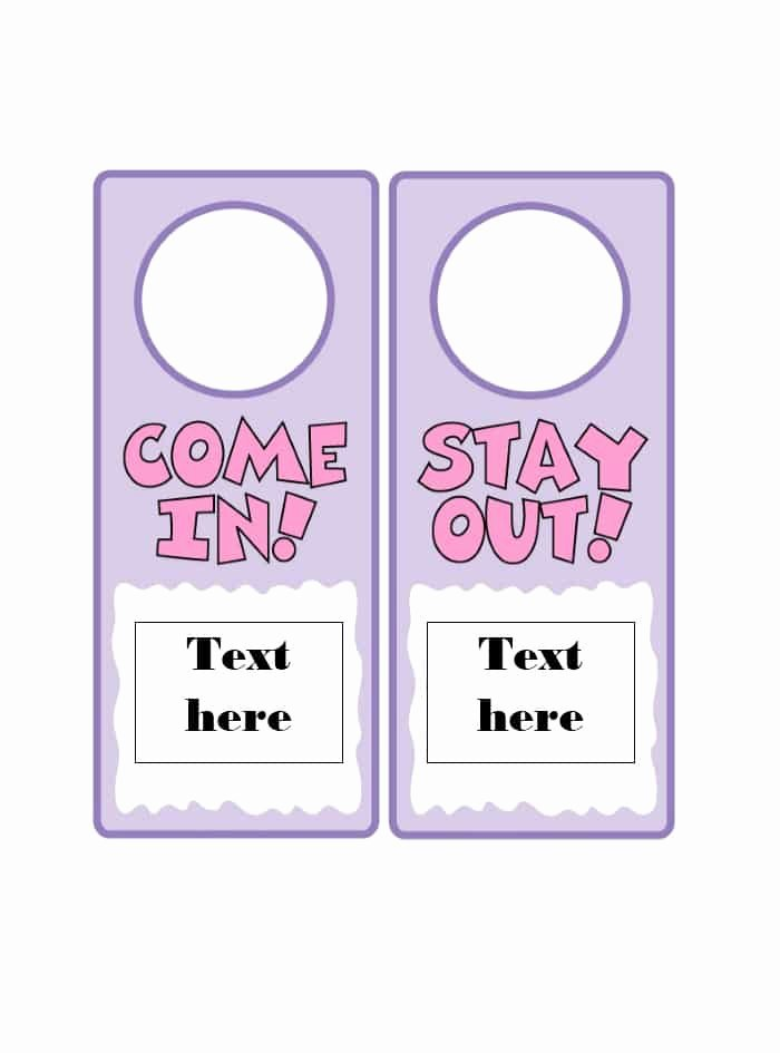 Door Hanger Template for Word Luxury 43 Free Door Hanger Templates Word Pdf Template Lab