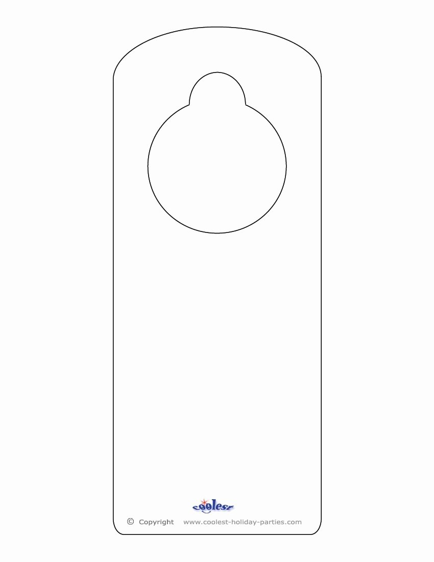 Door Hanger Template for Word Luxury This Printable Doorknob Hanger Template Can Be Decorated