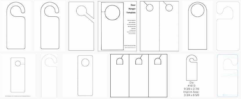 Door Hanger Template for Word Unique About Hangers Constructions Clothes Food and Health