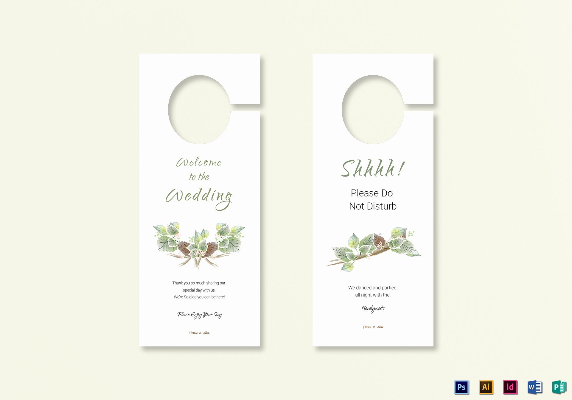 Door Hanger Template Illustrator Fresh Fall Wedding Door Hanger Template In Psd Word Publisher