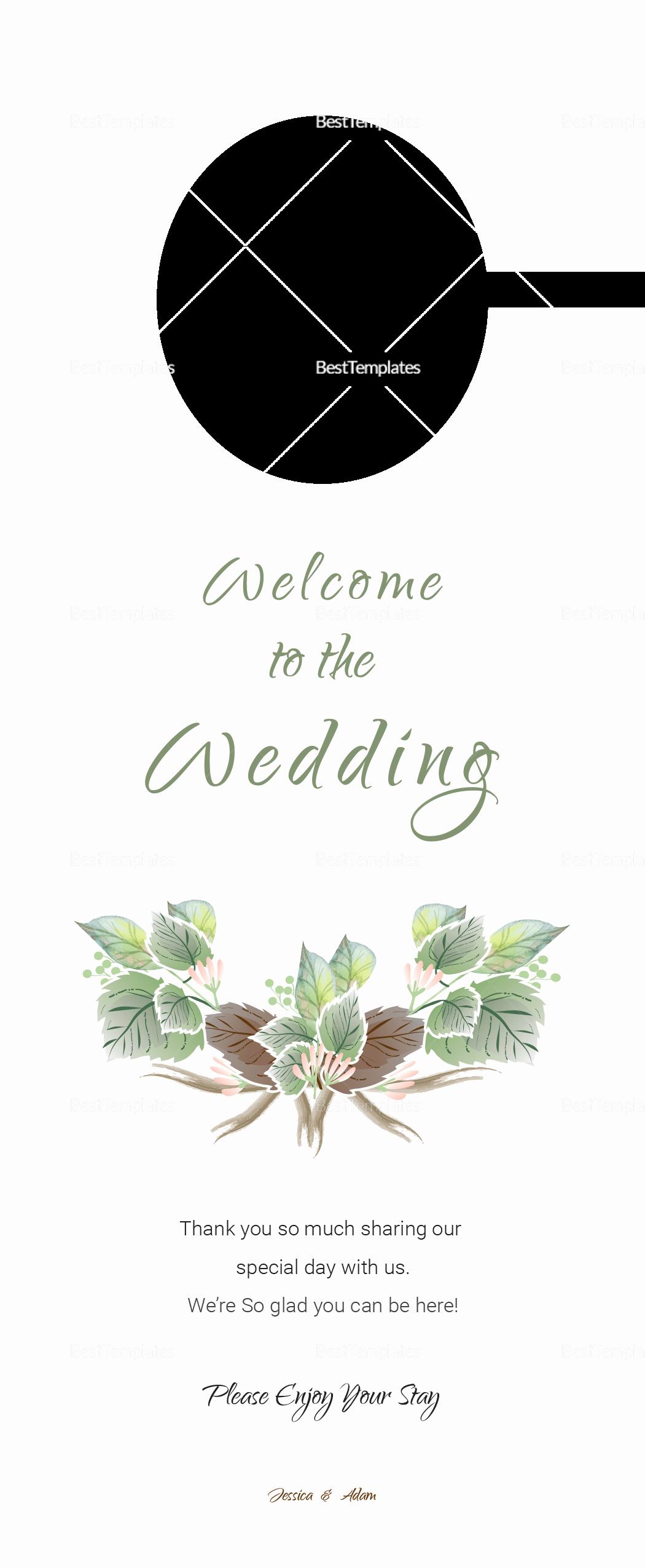 Door Hanger Template Illustrator Luxury Fall Wedding Door Hanger Template In Psd Word Publisher