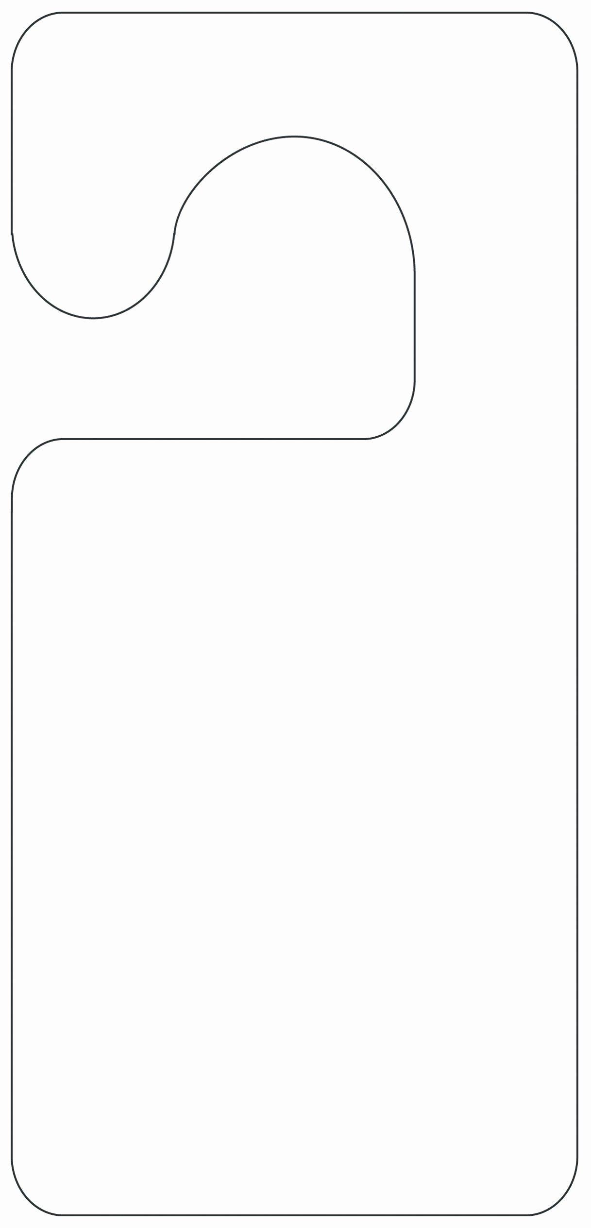 Door Hanger Template Illustrator Luxury Printable Door Hanger Template