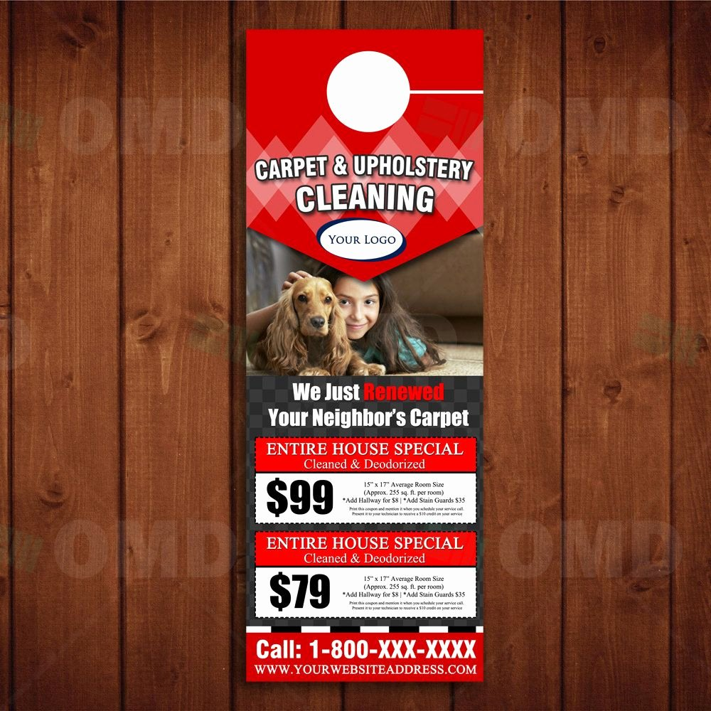 Door Hanger Template Psd Beautiful Instant Download Coupon Carpet Cleaning Door Hanger