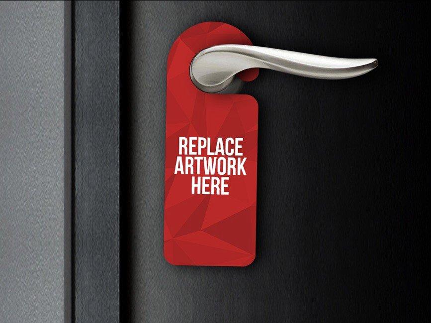Door Hanger Template Psd Elegant Realistic Door Hanger Mockup Mockup Love