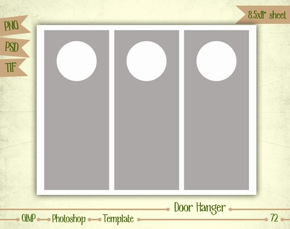 Door Hanger Template Psd New Door Hangers Digital Collage Sheet Layered by Eudanedigital
