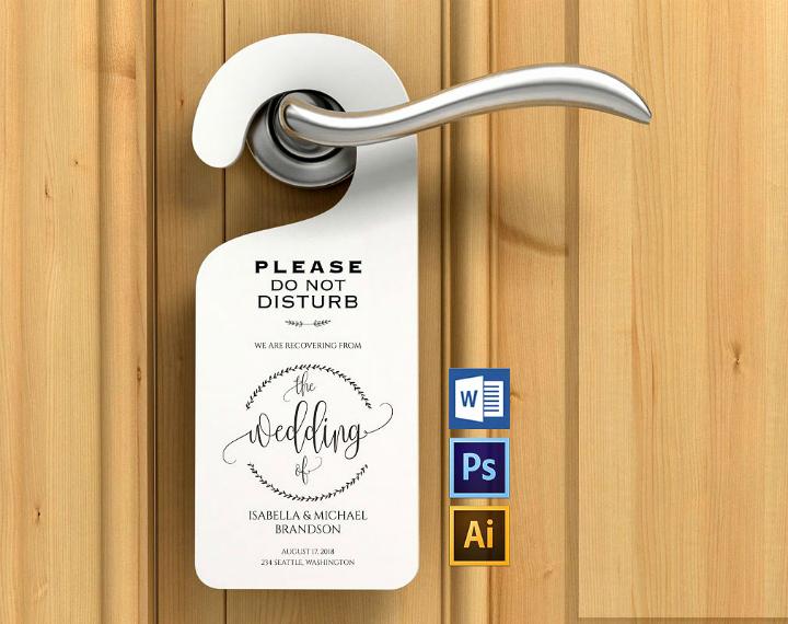 Door Hanger Template Publisher Best Of Door Hanger Template Printable Editable Free Download