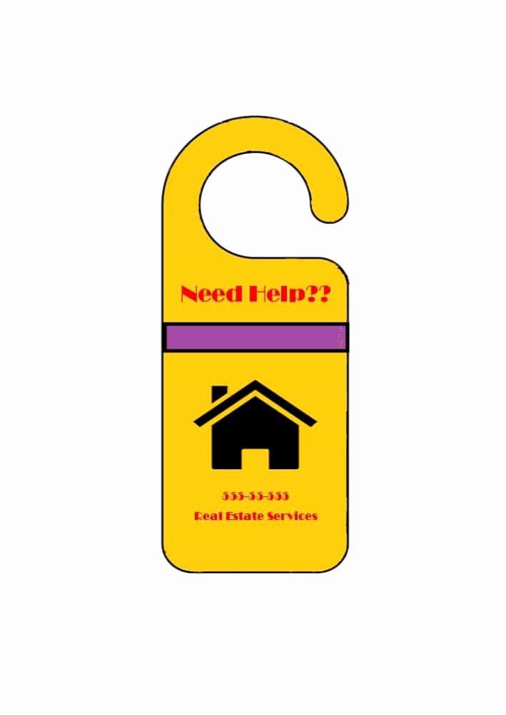 Door Hanger Template Word Luxury 43 Free Door Hanger Templates Word Pdf Template Lab