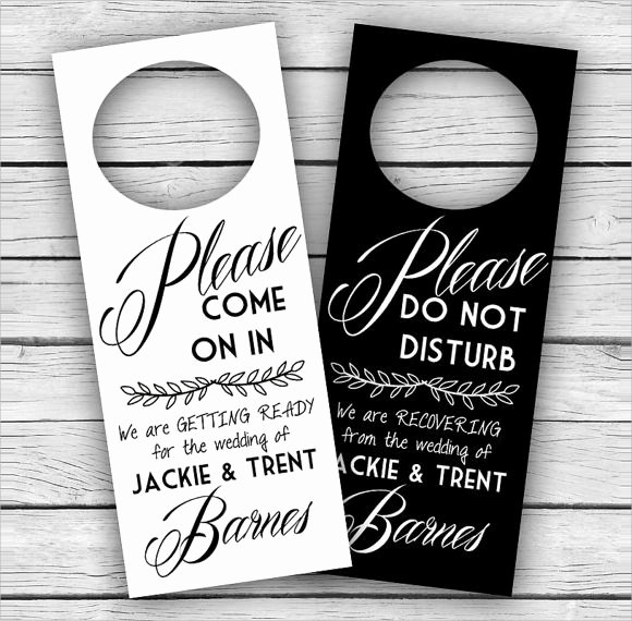 Door Hanger Template Word Luxury 9 Wedding Door Hanger Templates for Free Download