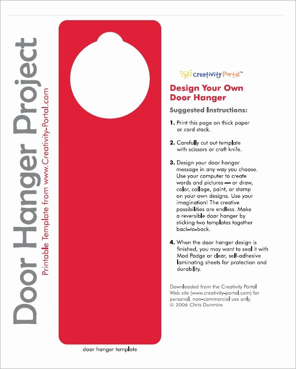 Door Knob Hanger Template Best Of 15 Door Hangers