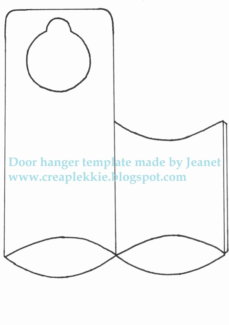 Door Knob Hanger Template Best Of 25 Best Ideas About Door Hanger Template On Pinterest