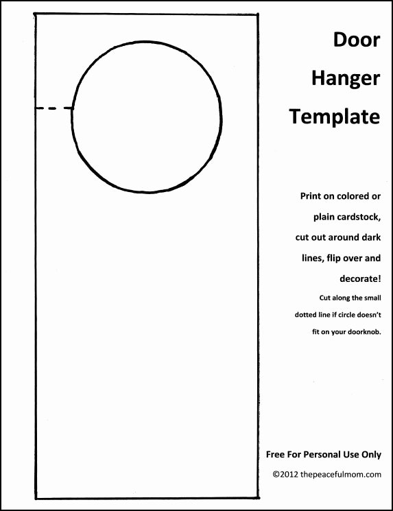 Door Knob Hanger Template Best Of Diy Holiday Door Hanger with Free Template