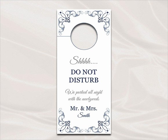 Door Knob Hanger Template Luxury 9 Wedding Door Hanger Templates for Free Download