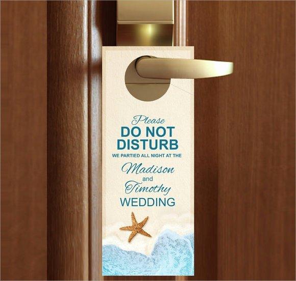 Door Knob Hanger Template New 9 Wedding Door Hanger Templates for Free Download
